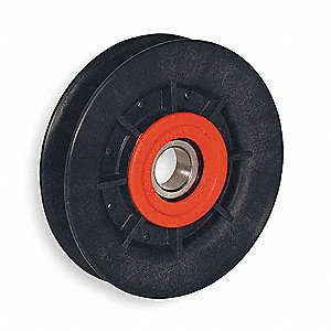 V-Belt Idler Pulley,B Belt Type,5 In O D