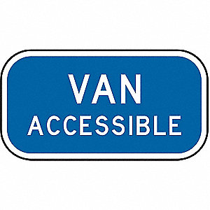 PARKING SIGN,6 X 12IN,WHT/BL,TEXT,R