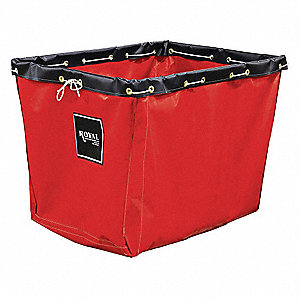 Replacement Liner,12 Bu,Red Vinyl