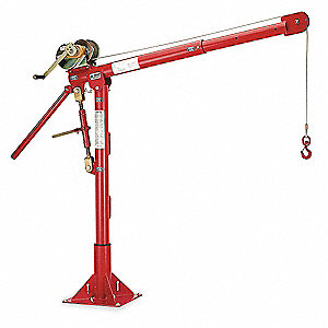 Davit Crane,Portable,1000Lb,0-540In,Red