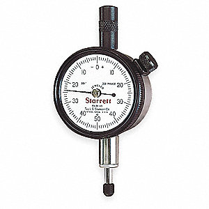 "Balanced Reading Dial Indicator, AGD 1, 1.687"" Dial Size, 0 to 0.250"" Range"