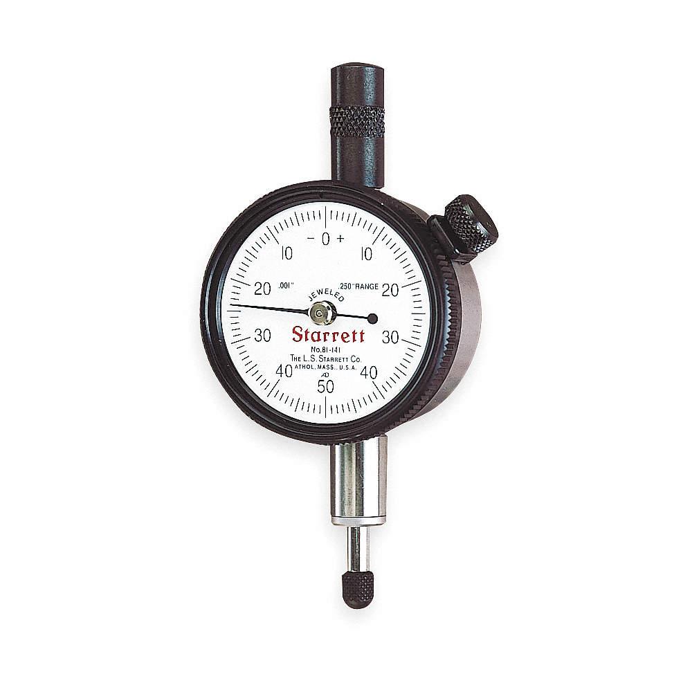 Dial Indicator,0 to 0.250 In,0-50-0 STARRETT 81-141J