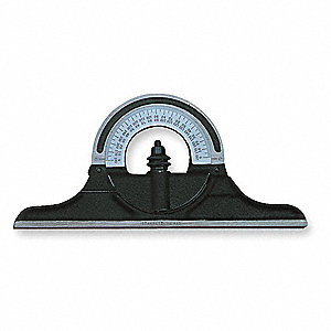 Protractor Head,Non-Reversible,Cast Iron