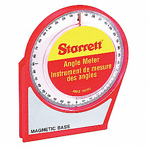 Angle Meter,Magnetic Base,0-90 Deg