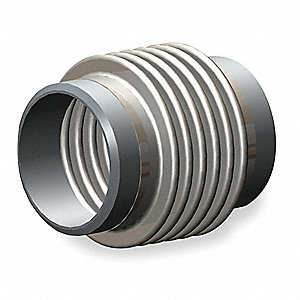 "Metal Expansion Joint, 9""L x 6"" dia., Stainless Steel"