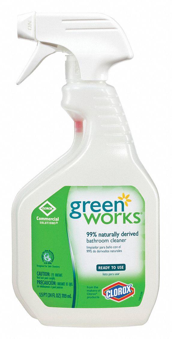 GREEN WORKS Bathroom Cleaner Oz Bottle Unscented Liquid Ready - Bathroom cleaner liquid
