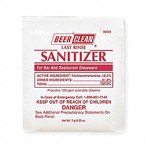 Powder Beer Clean Sanitizer,PK100