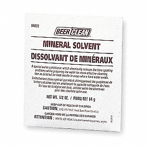 Powder Beer Clean Mineral Solvent, 0.50 oz. Pouch, 100 PK