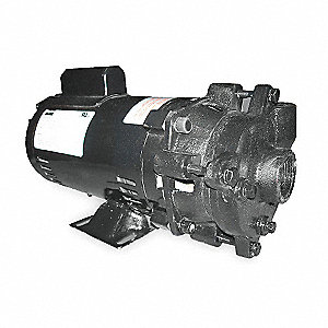 Cast Iron 1/2 HP Centrifugal Pump, 1 Phase, 115/230 Voltage
