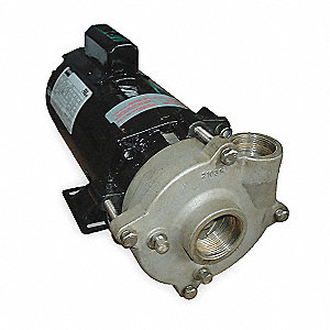 "120/240VAC Open Dripproof Centrifugal Pump, 1-Phase, 1-1/4"" NPT Inlet Size"