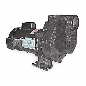 "1HP Cast Iron Centrifugal Pump, 1-1/2"" NPT Inlet, 1-1/2"" NPT Outlet"