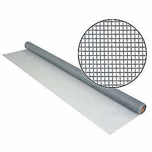 "7 ft. x 36"" Fiberglass Door and Window Screen, Gray"
