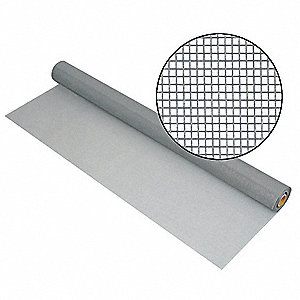 "100 ft. x 36"" Fiberglass Door and Window Screen, Gray"