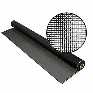 "100 ft. x 60"" Fiberglass Door and Window Screen, Charcoal"