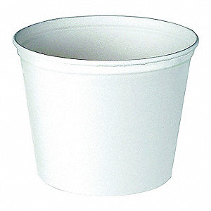 Paper Round Food Bucket, White, 300 PK