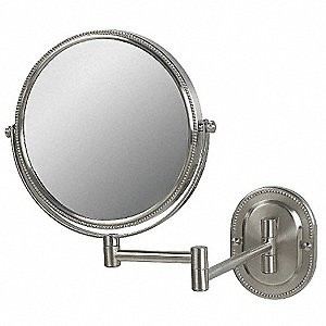 Round Nickel Wall Makeup Mirror
