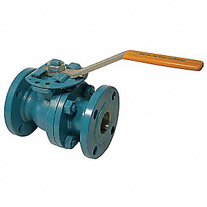"Carbon Steel Flanged x Flanged Ball Valve, Gear, 6"" Pipe Size"