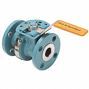 "Carbon Steel Flanged x Flanged Ball Valve, Locking Lever, 2"" Pipe Size"