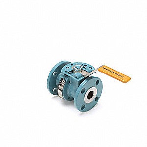 CS Ball Valve,Inline,Flanged,4 in