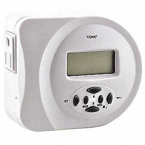 Plug In Timer, White, Min. Time Setting: 1 min., Max. Time Setting: 7 days