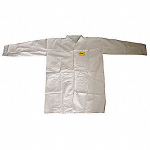 COAT LAB DISP POLPYP WHITE PK 8 2XL