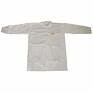 COAT LAB DISPOSABLE WHITE PK 30 4XL