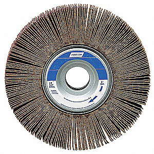 "Coated Unmounted Flap Wheel, 80 Grit Ceramic, 5"" Diameter, 1"" Face Width"