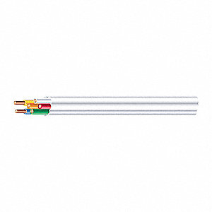 Plenum-Rated Cable Cable Type, White, 18/6 Gauge/Conductor, Spool/Coil Length: 250 ft.