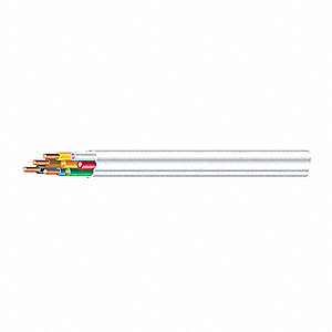 Plenum-Rated Cable Cable Type, White, 18/8 Gauge/Conductor, Spool/Coil Length: 250 ft.