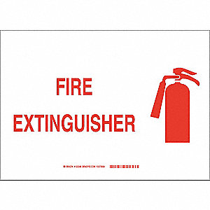 "Fire Equipment, No Header, Plastic, 10"" x 14"", With Mounting Holes, Not Retroreflective"