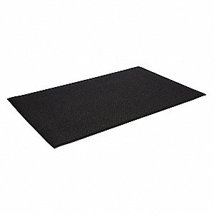 Antifatigue Runner, Zedlan Foam, Black, 1 EA