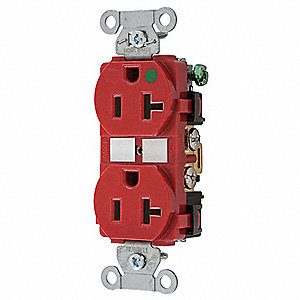 Receptacle,Duplex,20A,5-20R,125V,Red
