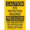 Caution Sign, 14 x 10In, BK/YEL, Bilingual