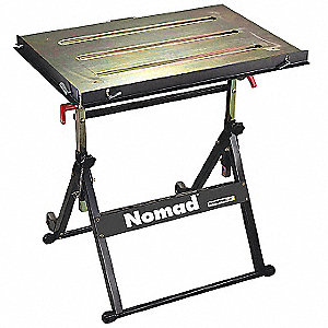 Portable Welding Table,30W,20D,Cap 350