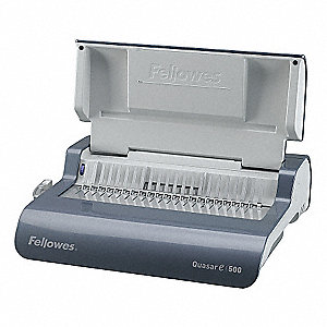 Binding Machine,Comb,Metallic Gray