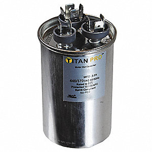 RUN CAPACITOR,20+5 MFD,440/370V,ROU