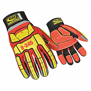 Rescue Gloves,Cut Resistant,2XL,Red,PR