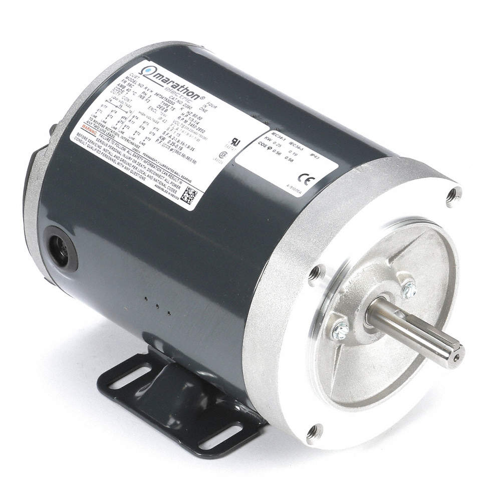 1/3 HP General Purpose Motor,3-Phase,3450 Nameplate RPM,Voltage  208-230/460,Frame 56C