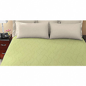 "95"" x 90"" Queen Coverlet, Chive Green"