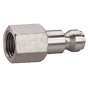 Stainless Steel Tru-Flate-Automotive Quick Coupler Plug