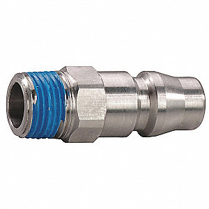 Stainless Steel Asian Style Hi-Flow Quick Coupler Plug