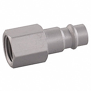 Aluminum Global Style Hi-Flow Quick Coupler Plug