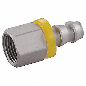 Straight 6061-T6 Aluminum Push On Hose Fitting