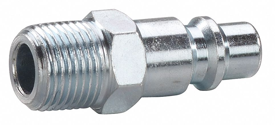 Quick Connect Hose Coupling,  Industrial,  Steel,  Plug