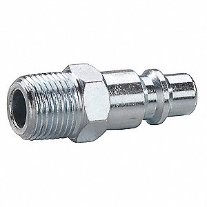 Speedaire Steel Industrial Quick Coupler Plug 30e657