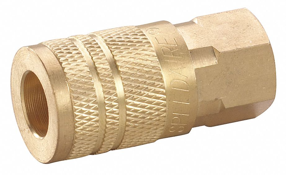 Quick Connect Hose Coupling,  Industrial,  Brass,  Socket