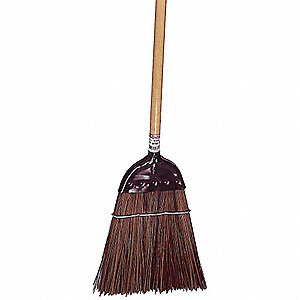 "Corn Broom,Head and Handle,12"",Brown"