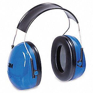 25dB Over-the-Head Food Industry Ear Muffs, Blue