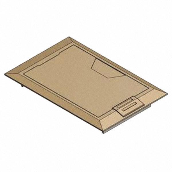 Steel city floor box cover brass shape rectangular 8 3 for Steel city floor boxes
