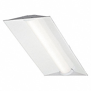 LED Recessed Troffer, LED Replacement For 3 Lamp LFL, 3500K, Lumens 4000, Rated Life 75,000 hr.